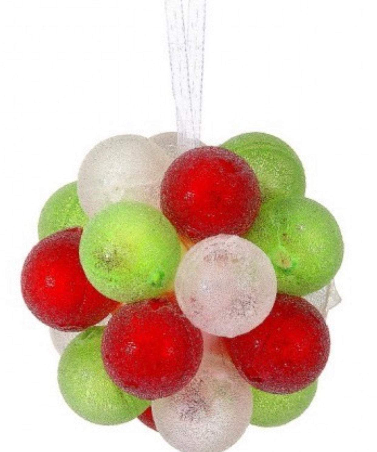 "Gumdrop jawbreaker candy red candy ornaments, 3.5"" christmas ornaments, ornament balls for tree, wreath attachments, candy theme"