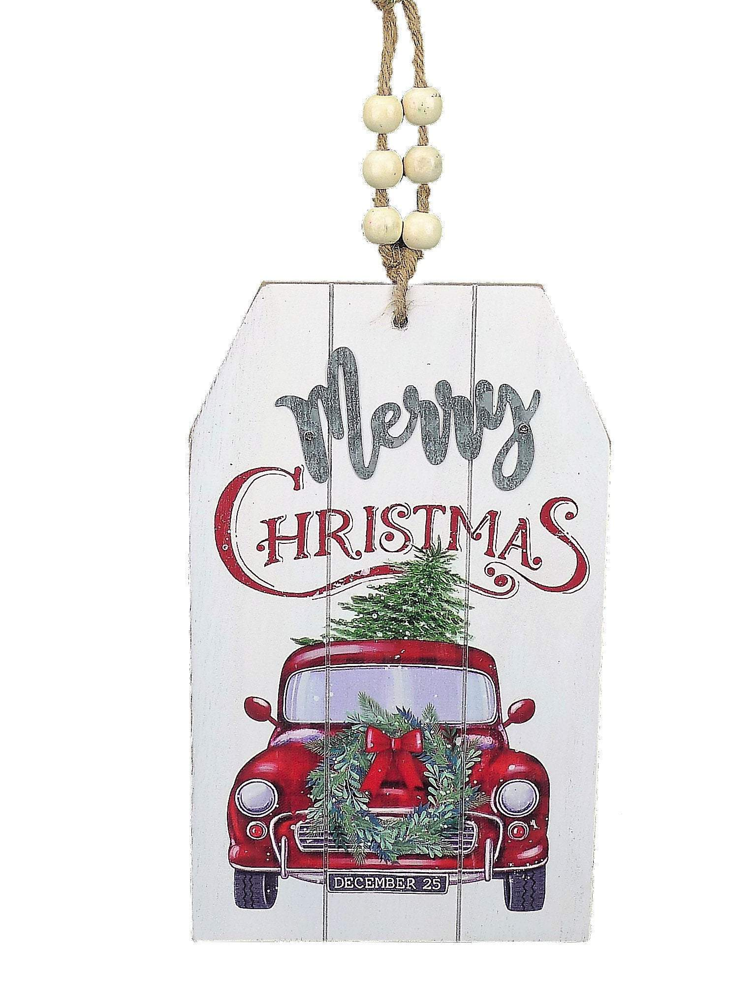 Christmas signs, red truck sign, christmas sign, signs for wreaths, Wreath sign, wreath attachments, old fashioned car sogn, christmas decor