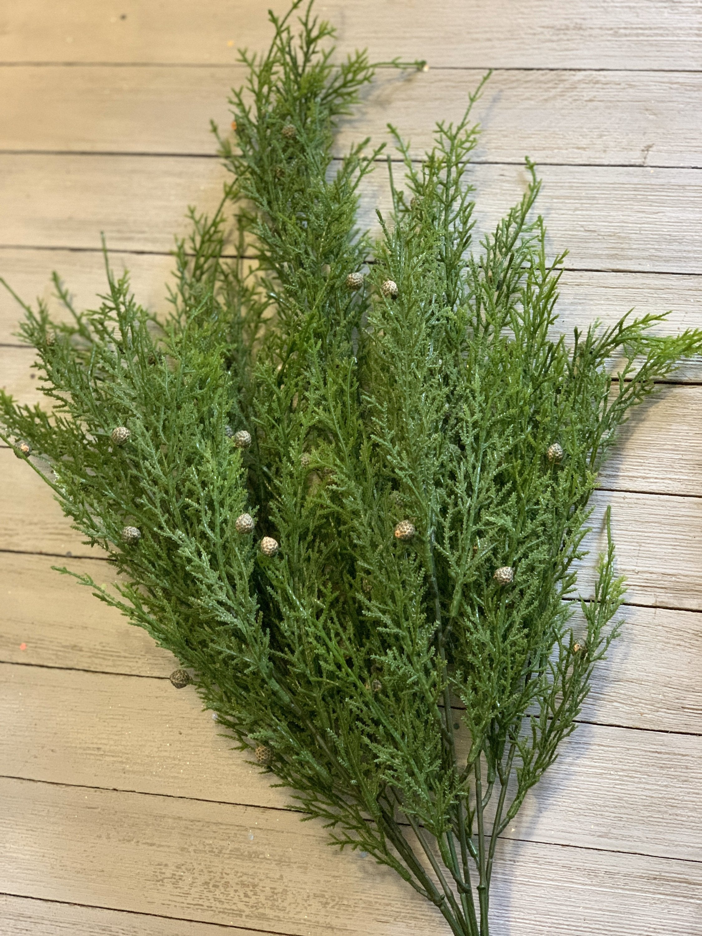 Artificial cedar,Pine, ,Greenery stems, cedar bush, artificial flowers, artificial greenery, wreath supplies, floral supplies,