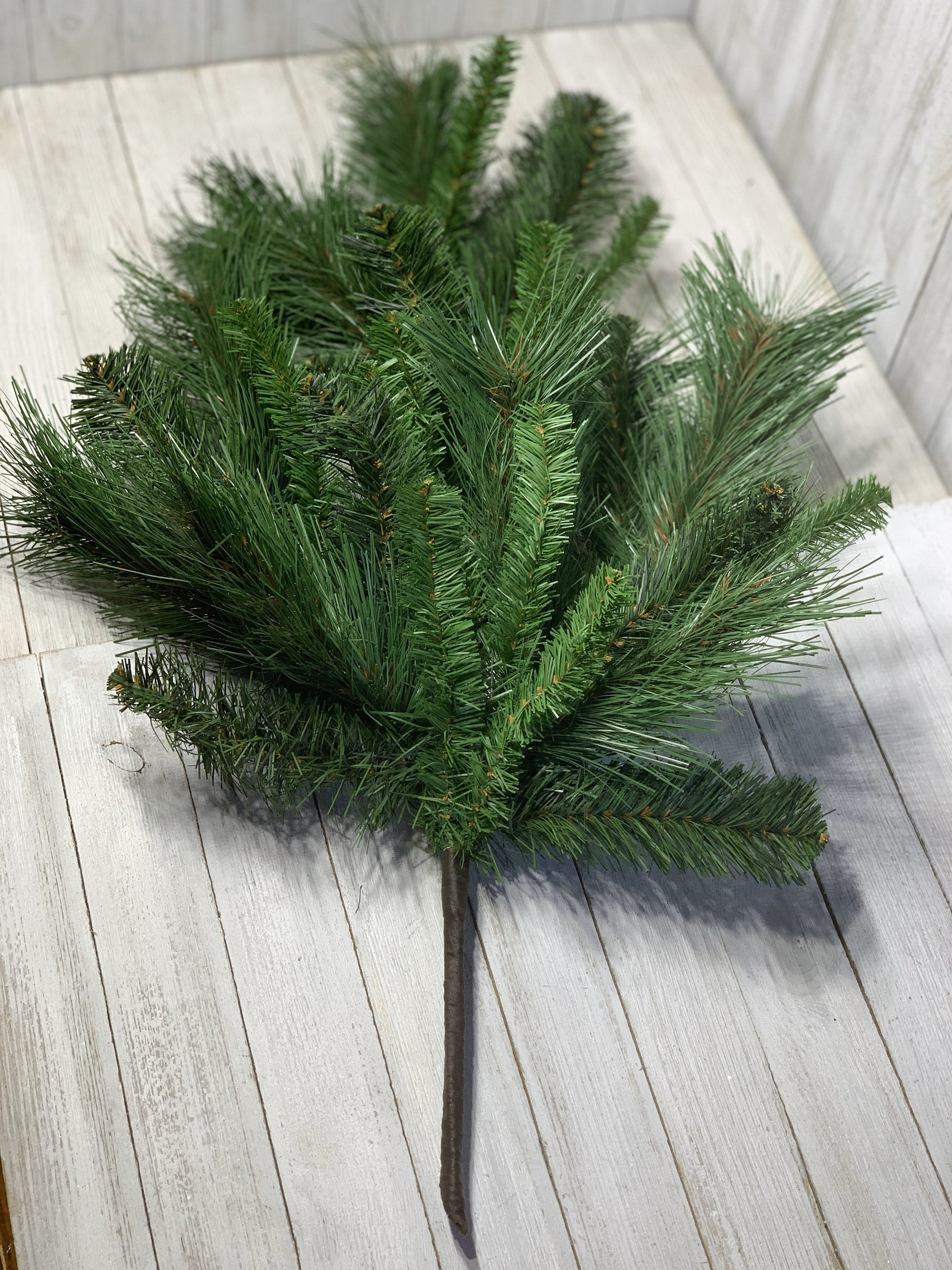 Pine tear drop spray, teardrop with pine, wreath base, pine base, mixed pine greenery, artifical greenery, floral supplies,