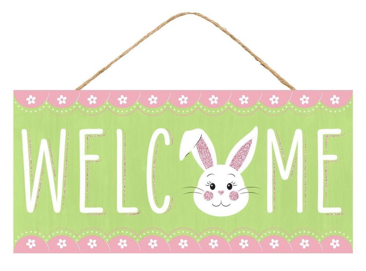 Easter signs, bunny sign, welcome signs, signs for spring, bunny sign, signs for wreaths, Wreath signs for spring