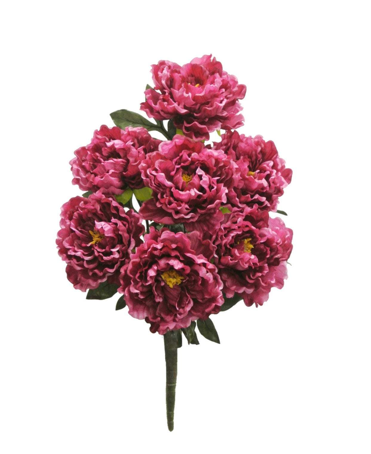 Artificial pink peonies, peony silk flower bush, spring flowers, Magenta peonies silk flowers, faux flower bush, beauty pink wedding flower,