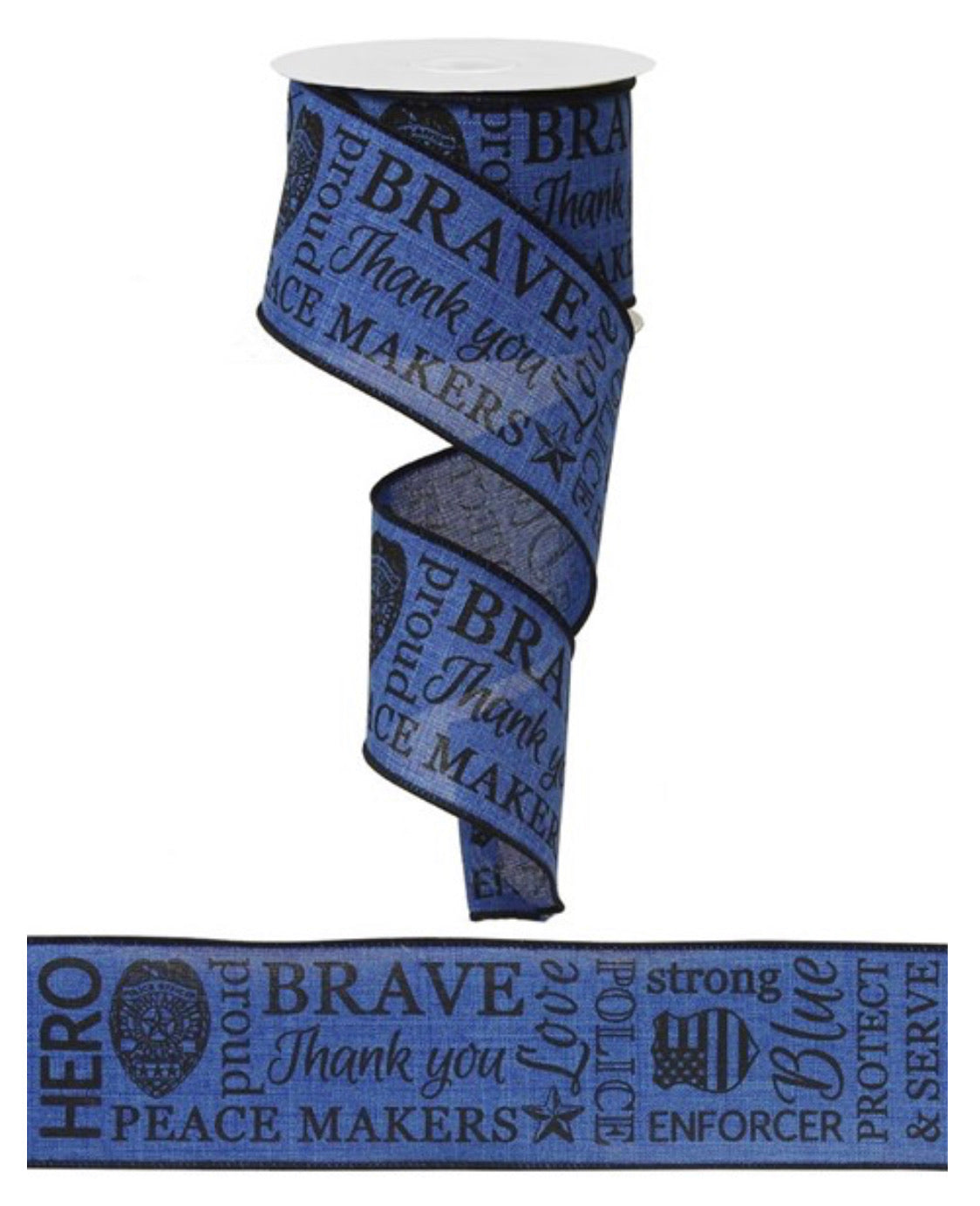 "Police wired ribbon 2.5""  law enforcement support"