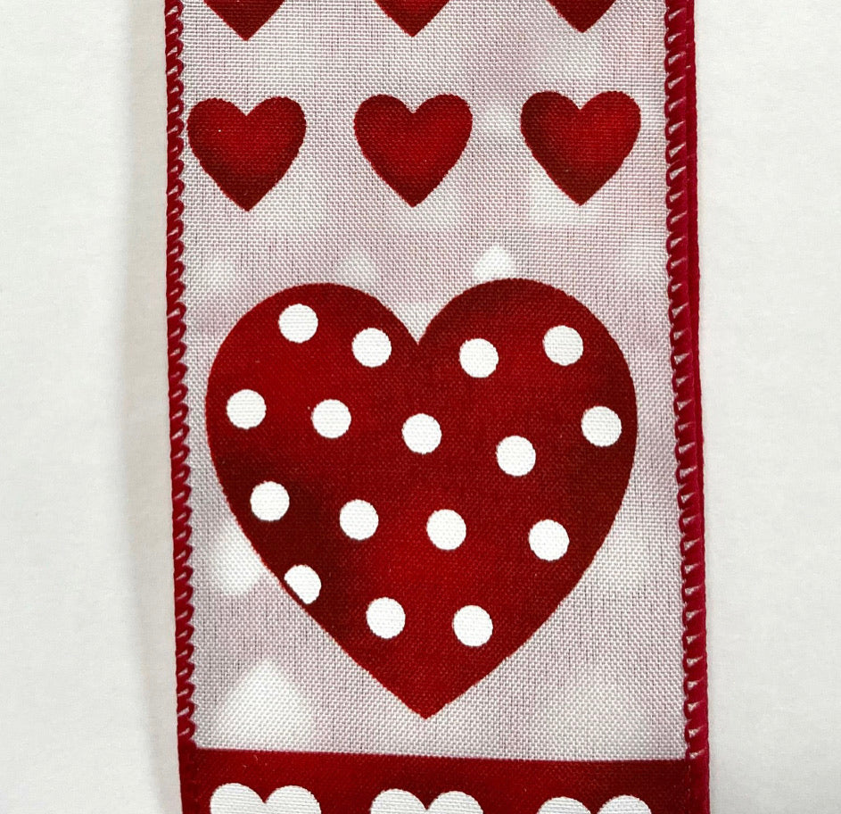 Valentine's Day heart ribbon 2.5""