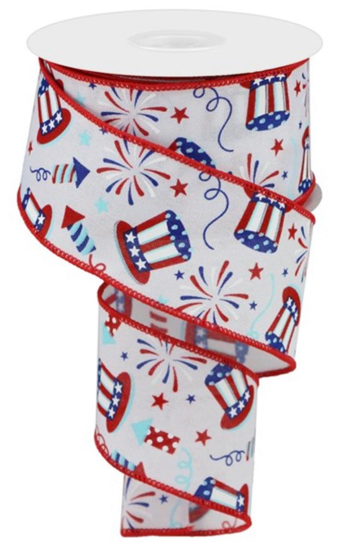 Uncle Sam fireworks wired ribbon 2.5""