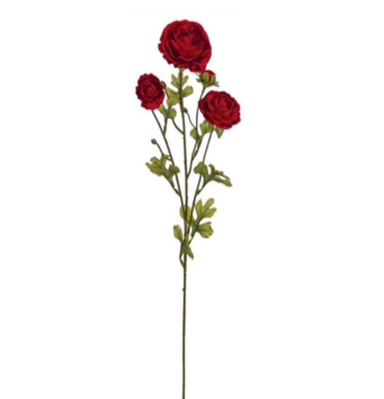 Abundance Ranunculus spray - red