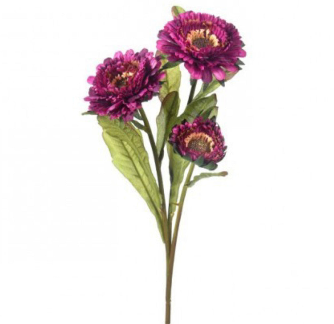 Aster flower spray - purple