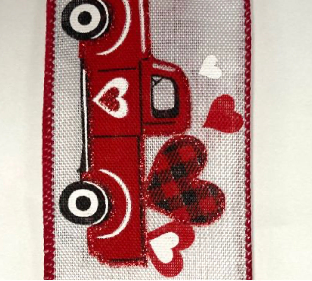 Valentine's Day truck ribbon - 2.5""