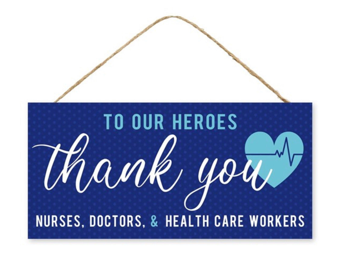 Thank you to our healthcare heroes - navy blue