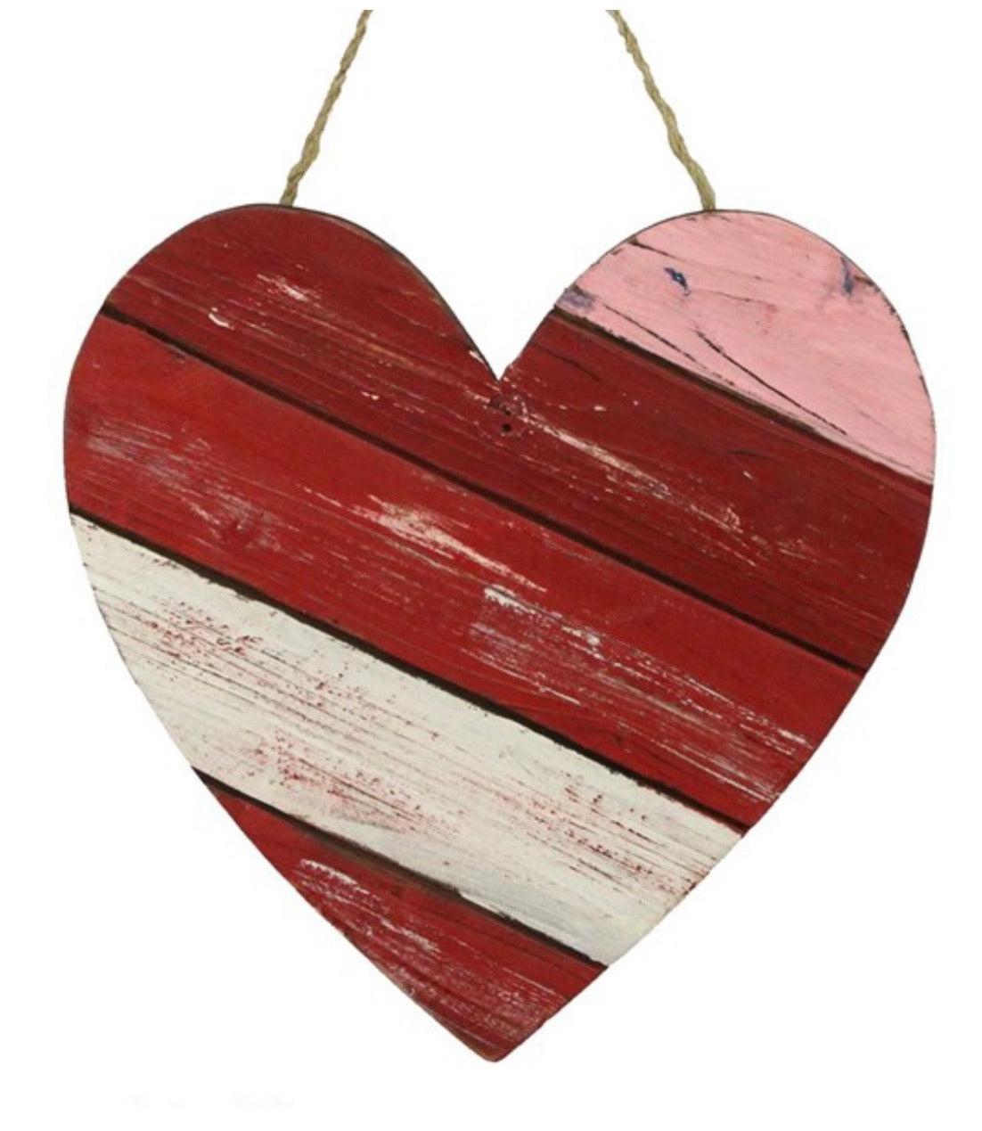 Wooden slat Heart sign - 12""