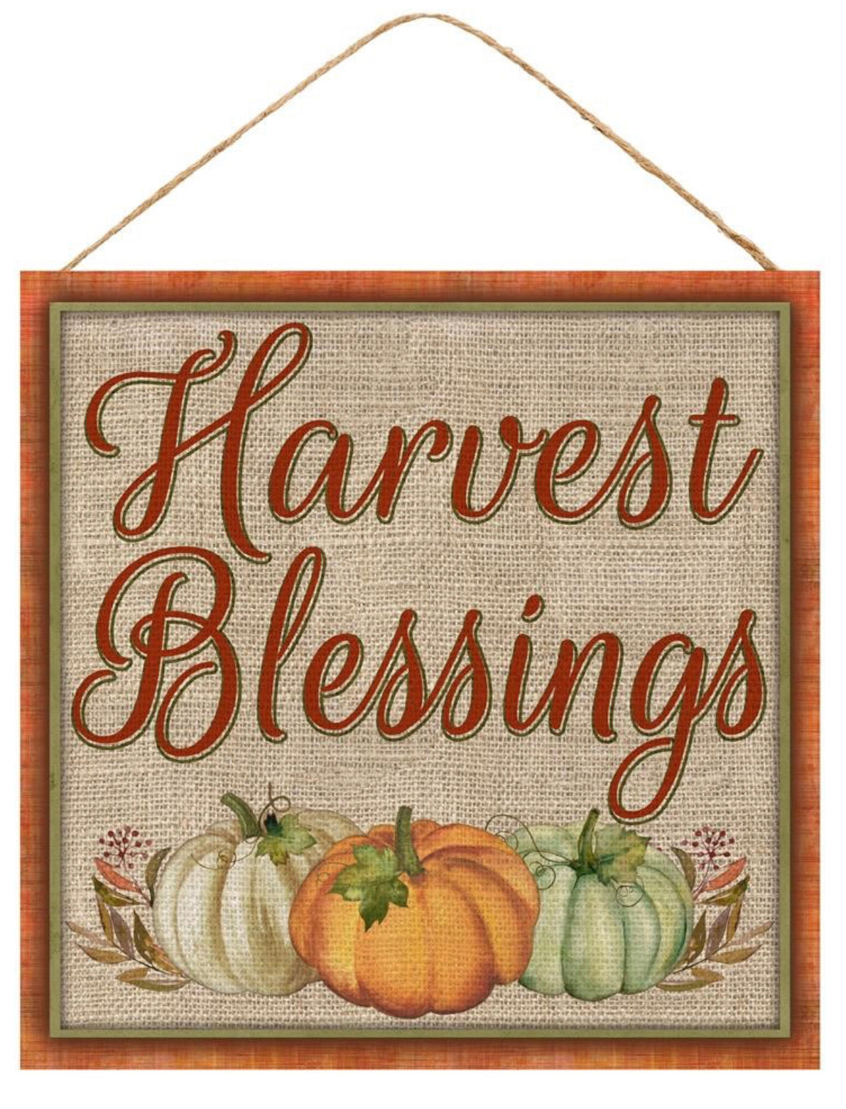 "harvest blessing 10"" square"