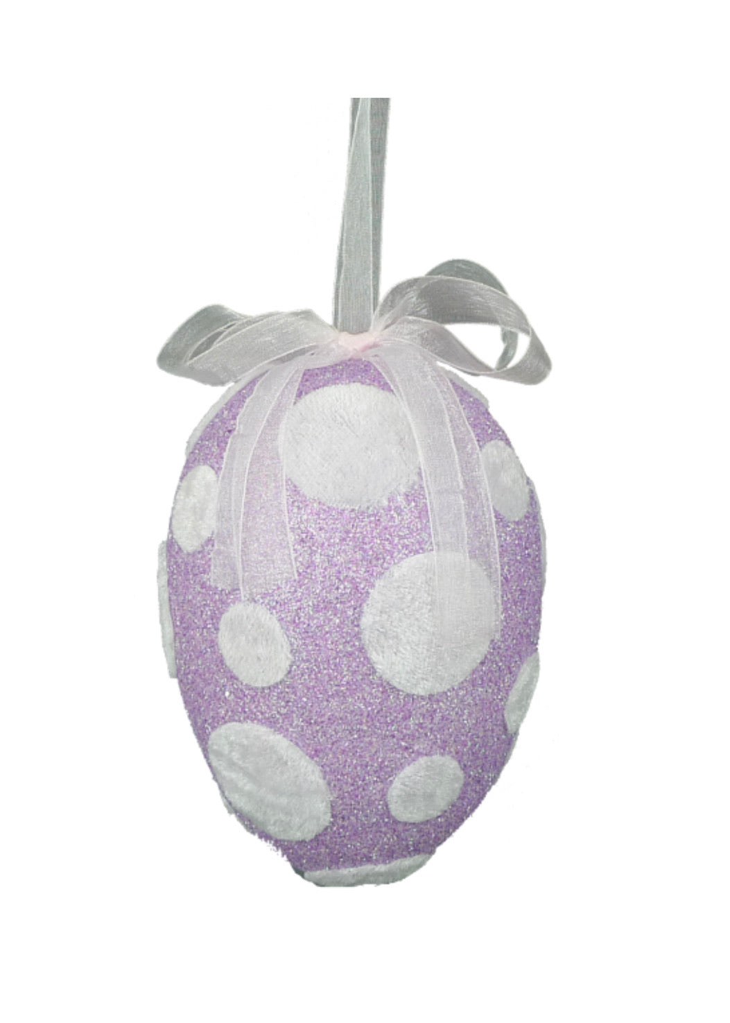 Polka dot egg ornament