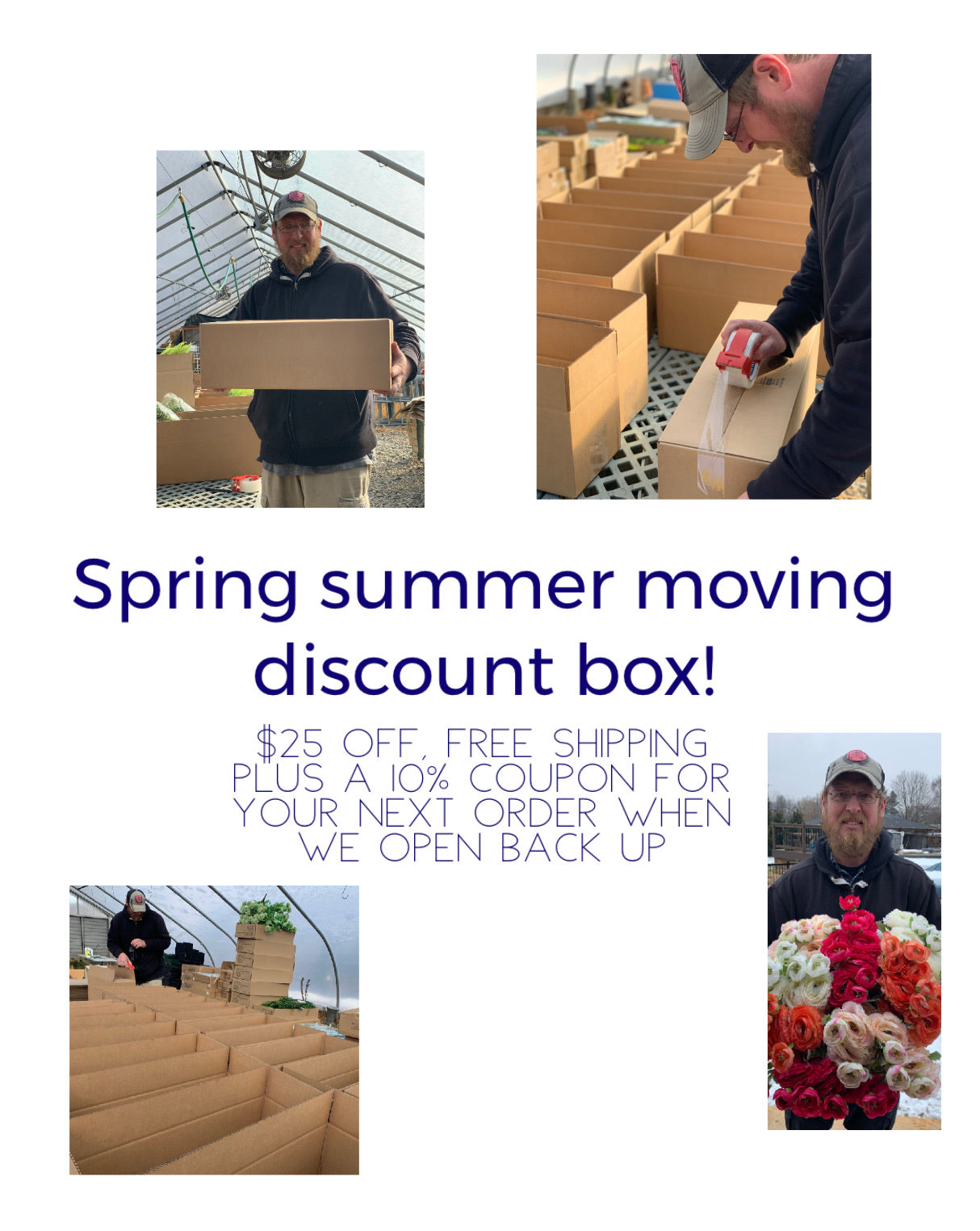 Discount moving box $25 off PLUS FREE SHIPPING PLUS