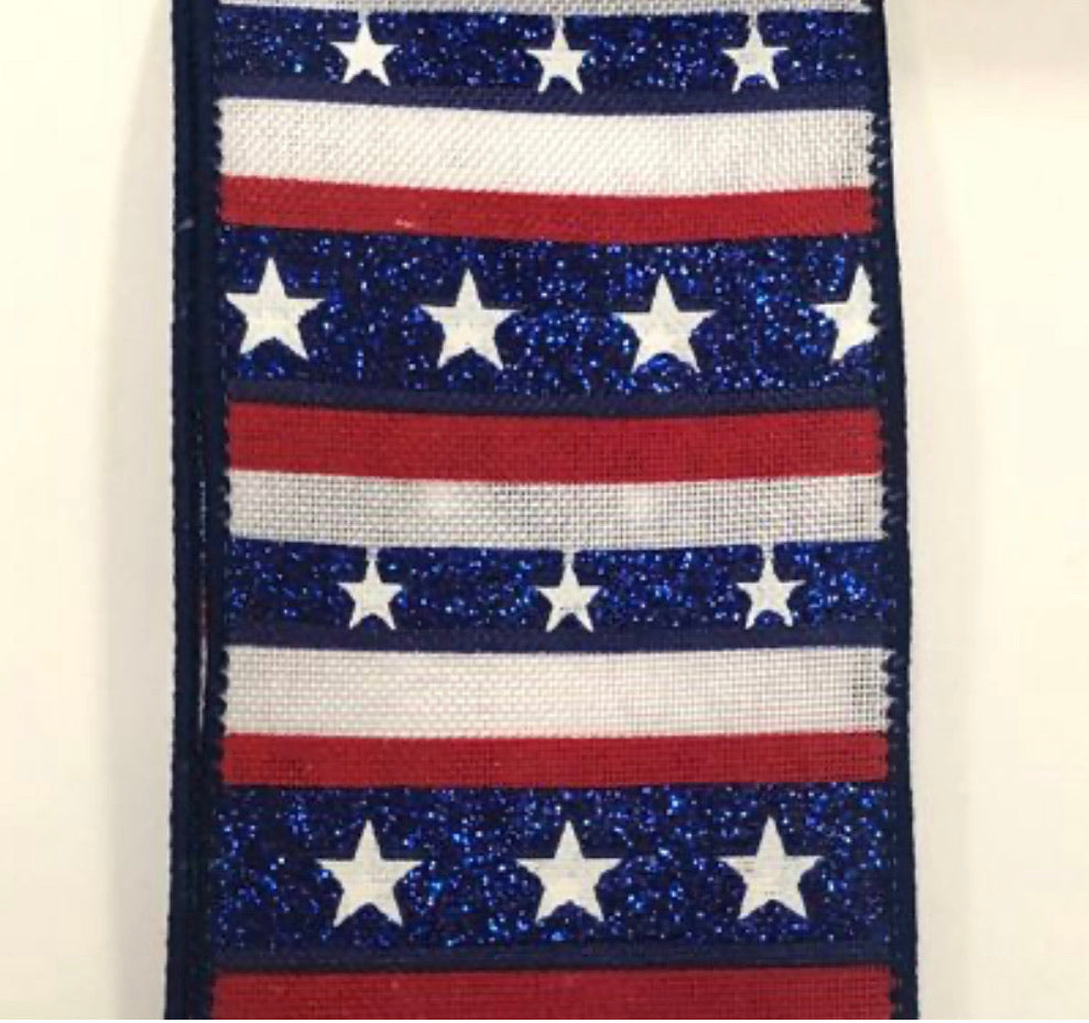 "stripes and stars Patriotic - 2.5"" - Greenery Market"