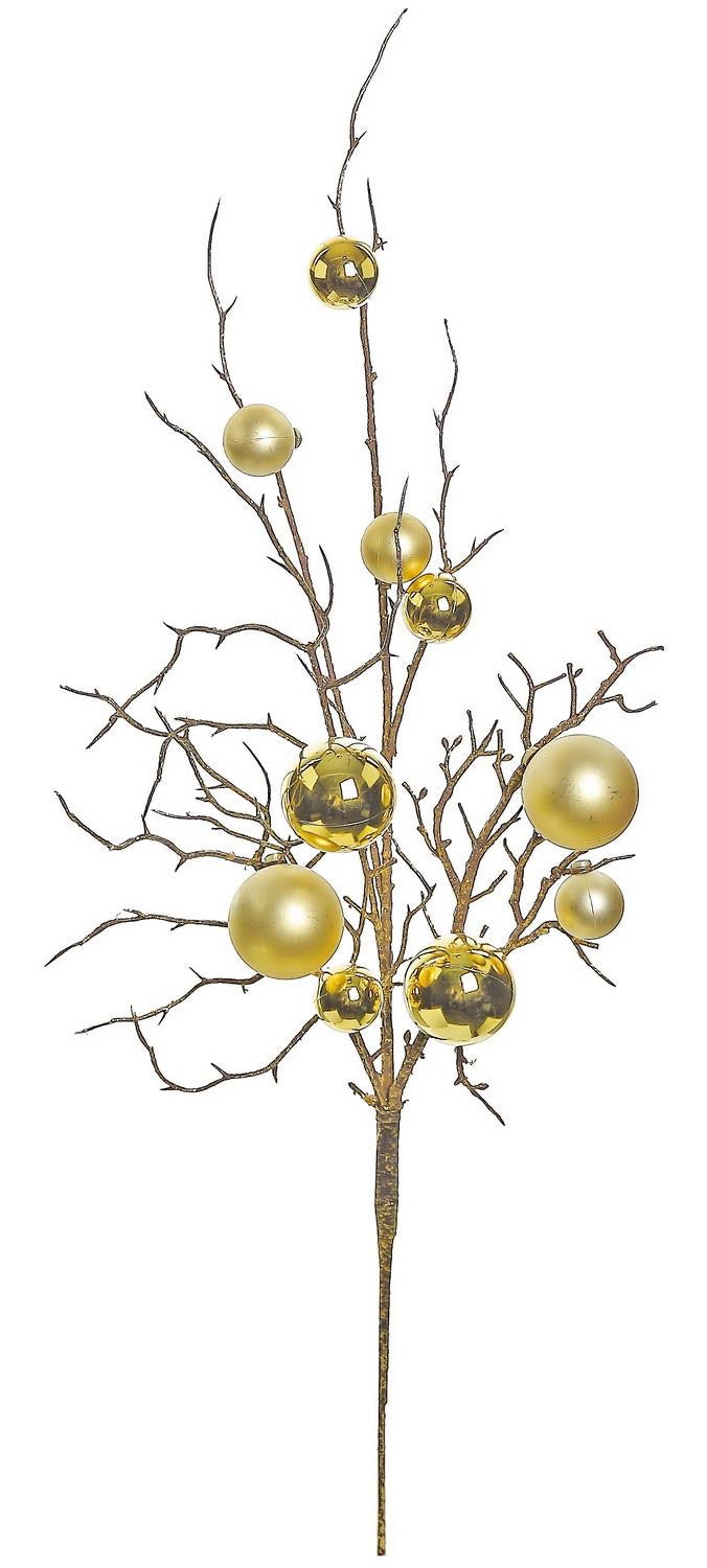 Ornament twig spray - gold