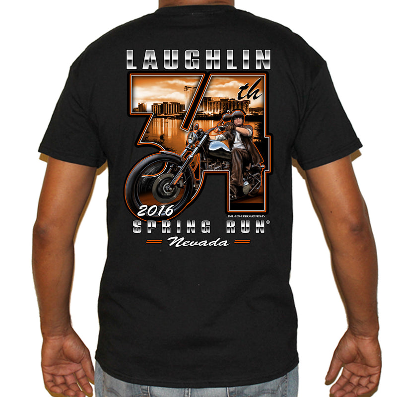 2016 Laughlin 34th Anniversary Biker T-Shirt