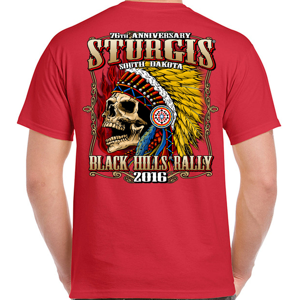 2016 Sturgis Insane Indian Skull T-Shirt