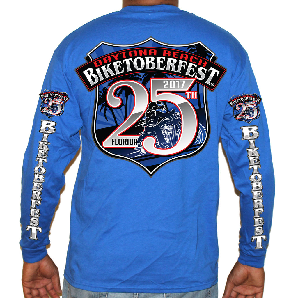 2017 Biketoberfest Daytona Beach Official Logo Long Sleeve Shirt