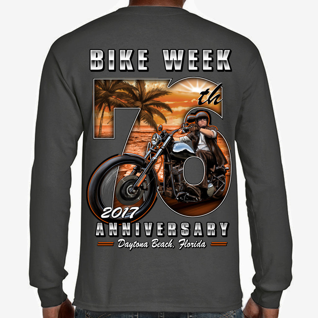 2017 Bike Week Daytona Beach 76th Scene Long Sleeve Shirt