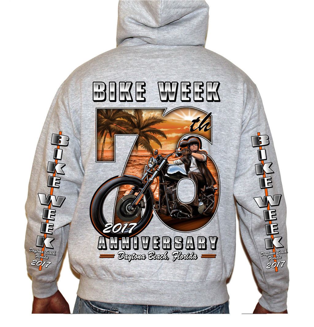 2017 Bike Week Daytona Beach 76th Scene Zip Up Hoodie