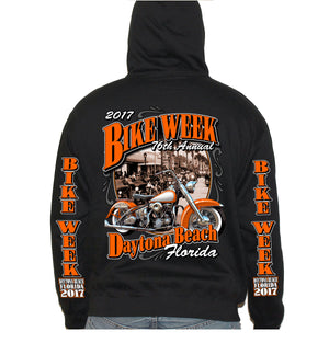 2017 Bike Week Daytona Beach Vintage Classic Zip Up Hoodie