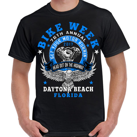 2017 Bike Week Daytona Beach Get Your Motor Runnin' T-Shirt