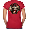 Ladies 2017 Bike Week Daytona Official Logo V-Neck T-shirt