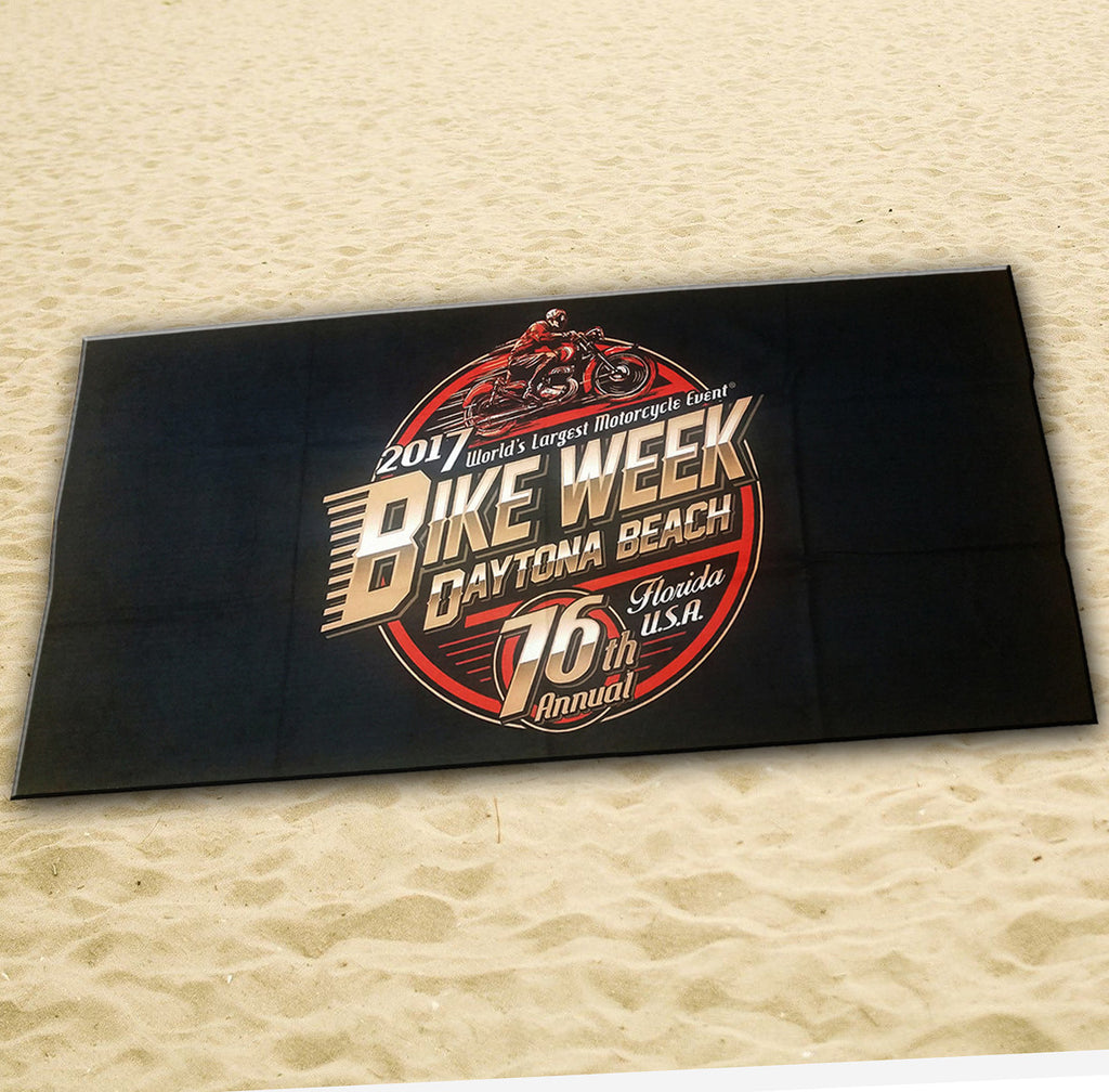 2017 Bike Week Official Logo Beach Towel