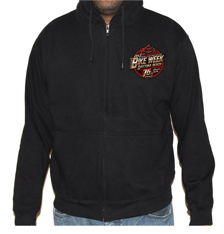2017 Bike Week Daytona Beach Official Logo Zip Up Hoodie