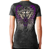 Ladies 2017 Ladies Bike Week Daytona Beach Rebel Skulls Burnout V-neck