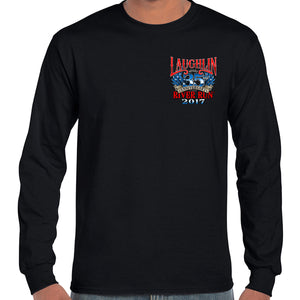 2017 Laughlin River Run America's Eagle Long Sleeve T-Shirt
