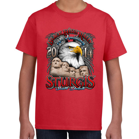 Kids 2014 Sturgis Eagle Rushmore T-Shirt
