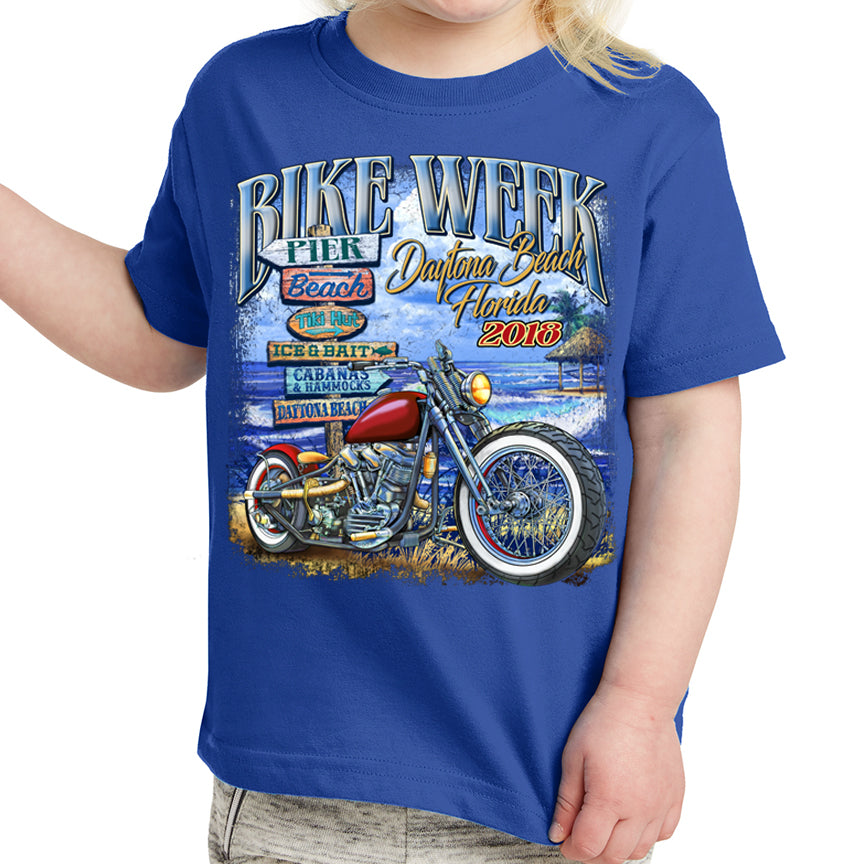 Kids 2018 Bike Week Daytona Beach U R Here T-Shirt