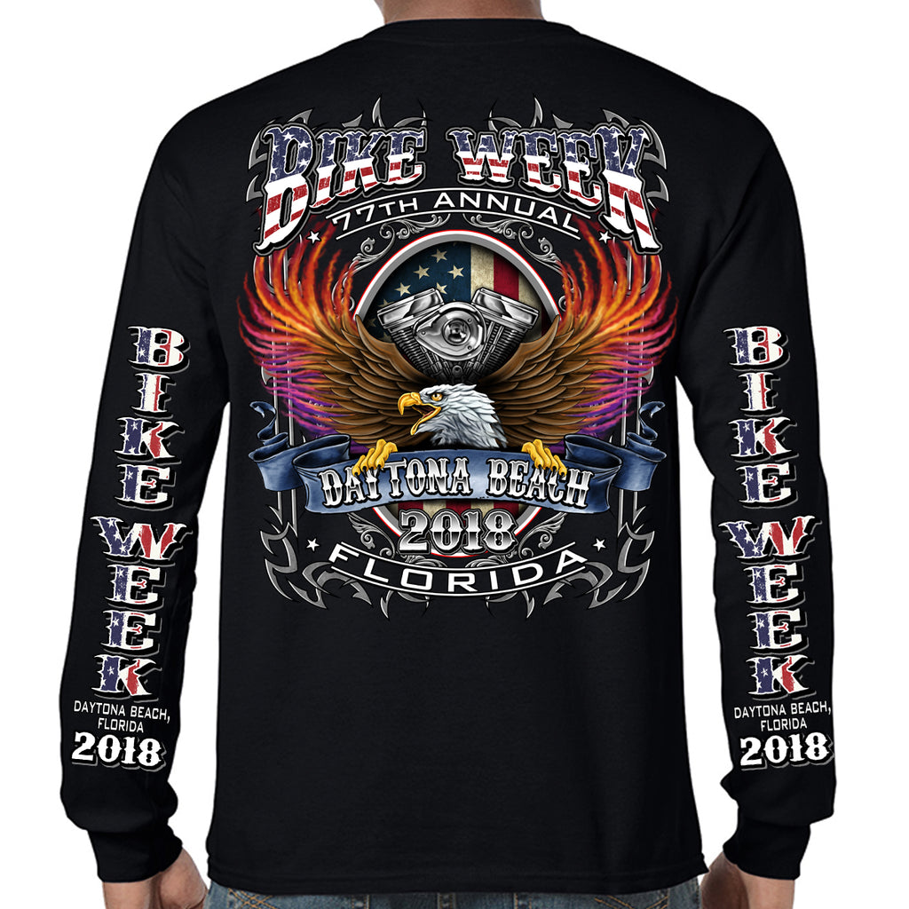 2018 Bike Week Daytona Beach B-Strong Long Sleeve Shirt