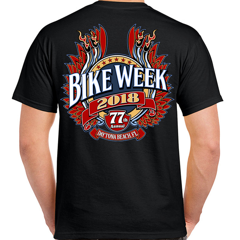 2018 Bike Week Daytona Beach Winged Pipe T-Shirt