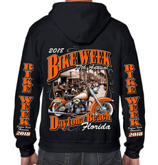 2018 Bike Week Daytona Beach Vintage Classic Zip-Up Hoodie