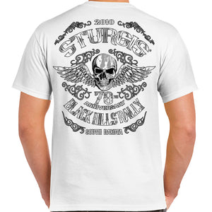 2018 Sturgis Black Hills Rally Ascended Skull T-Shirt