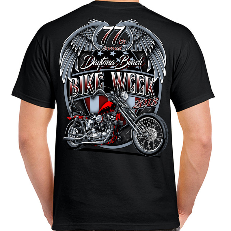 2018 Bike Week Daytona Beach Patriot T-Shirt