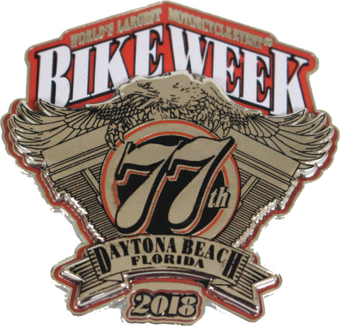 2018 Bike Week Daytona Beach Official Logo Pin