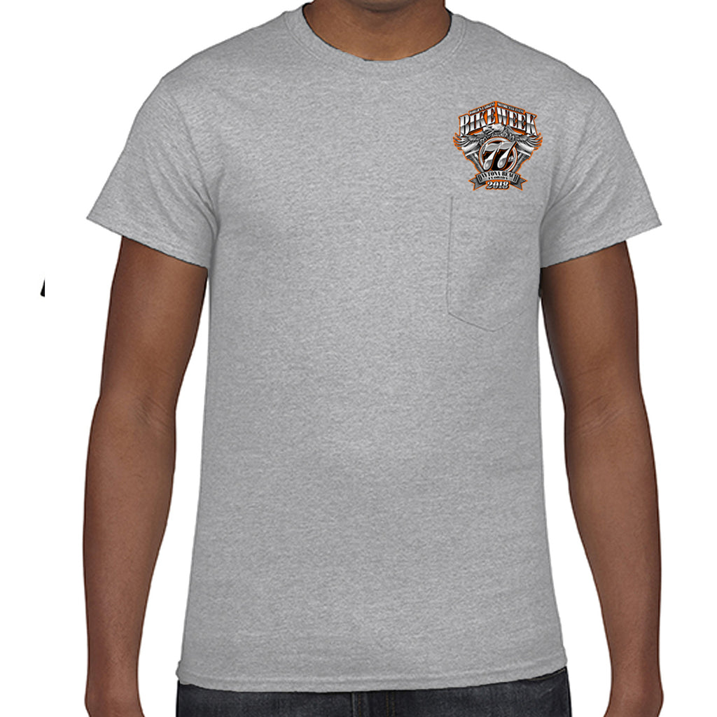 2018 Bike Week Daytona Beach Official Logo Pocket T-Shirt