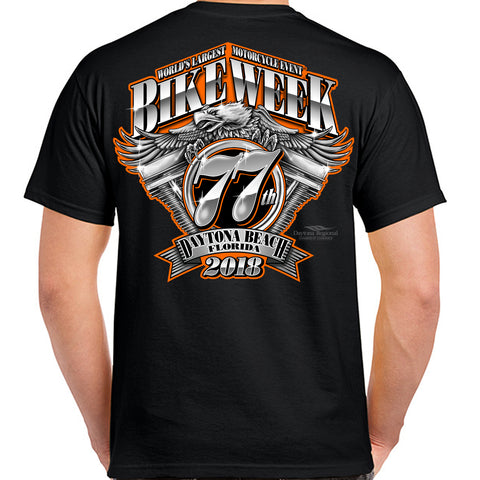 2018 Bike Week Daytona Beach Official Logo T-Shirt
