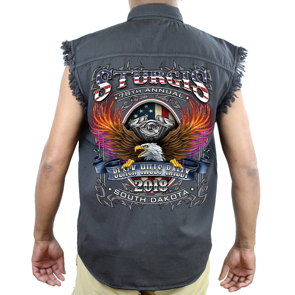 2018 Sturgis Black Hill Rally B-Strong Cut-Off Denim