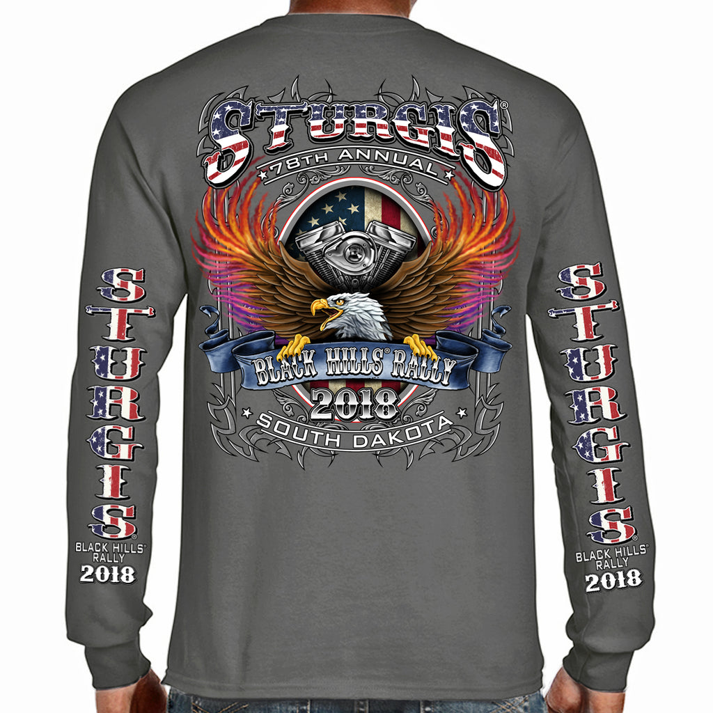 2018 Stugis Black Hills Rally B-Strong Long Sleeve Shirt