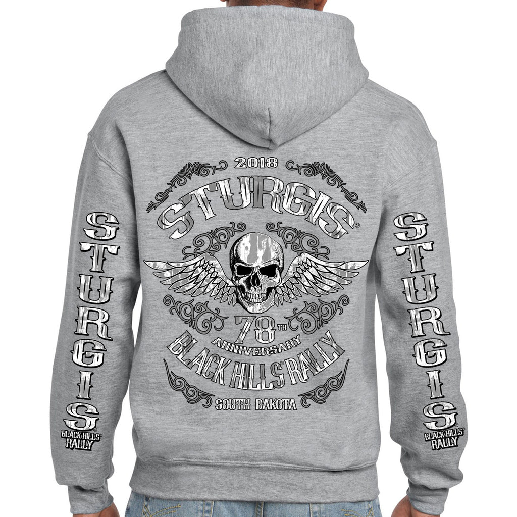 2018 Sturgis Black Hills Rally Ascended Skull Pullover Hoodie