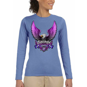 Ladies 2019 Biketoberfest Pink Eagle Long Sleeve