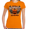 Ladies 2019 Biketoberfest Daytona Beach Pumpkin Crew Neck T-Shirt