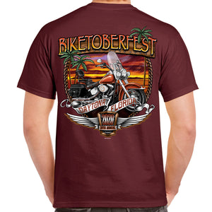 2020 Biketoberfest Daytona Beach Sunset Bike Shield T-Shirt