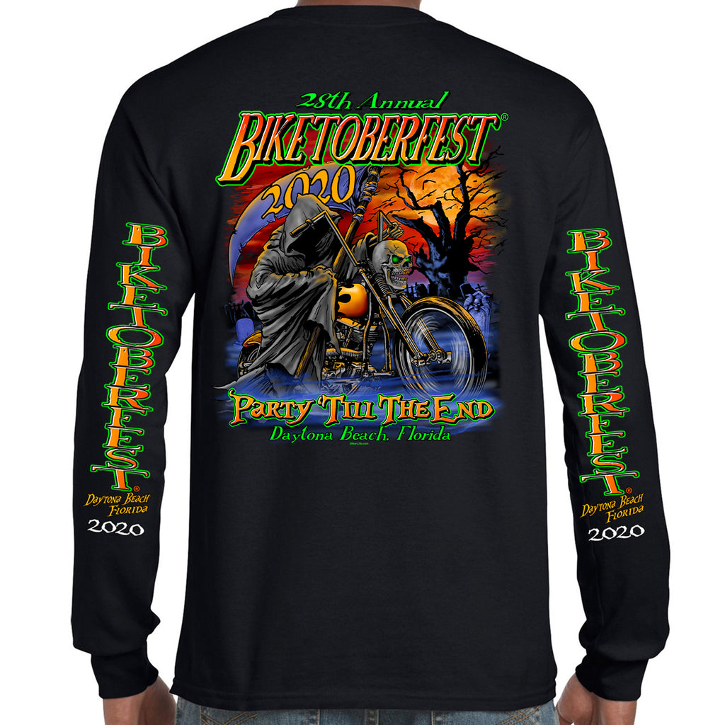 2020 Biketoberfest Daytona Beach Halloween Reaper Long Sleeve Shirt