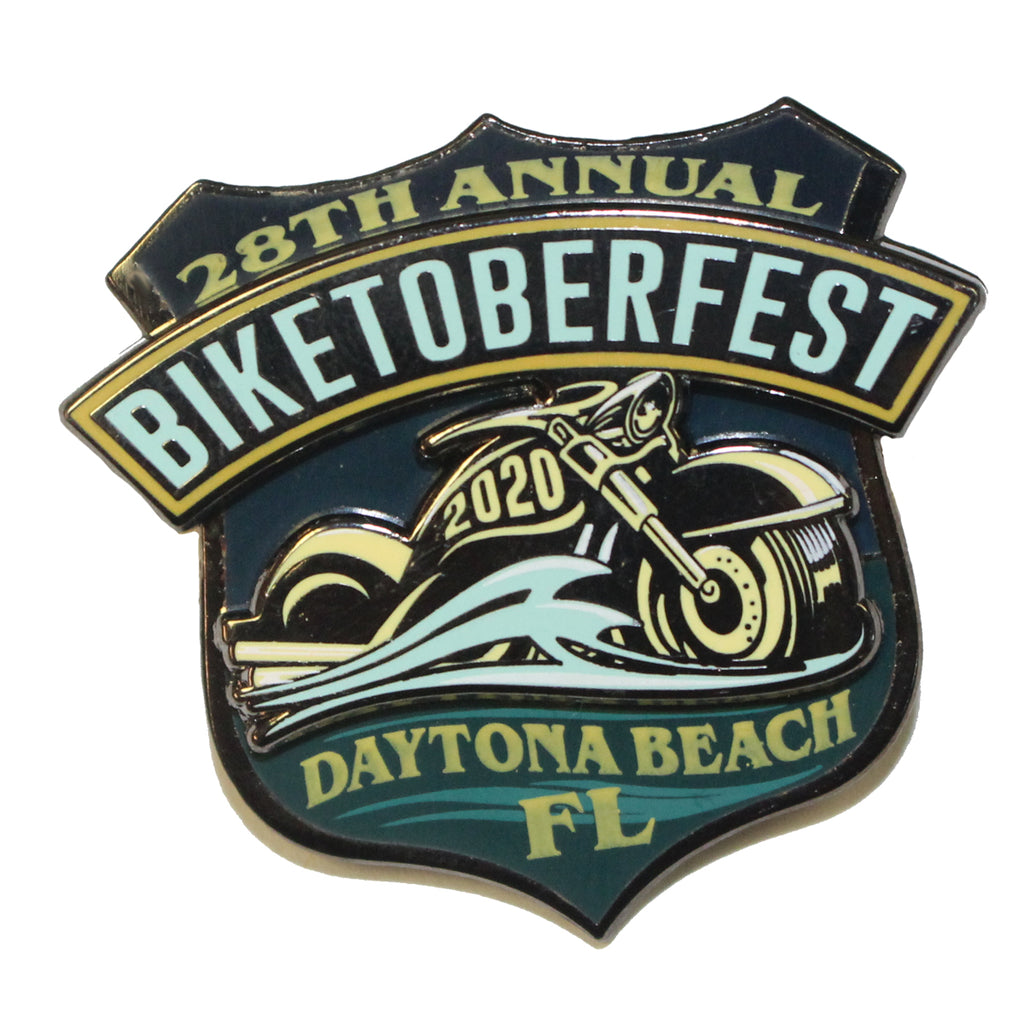 2020 Biketoberfest Daytona Beach Official Logo Pin
