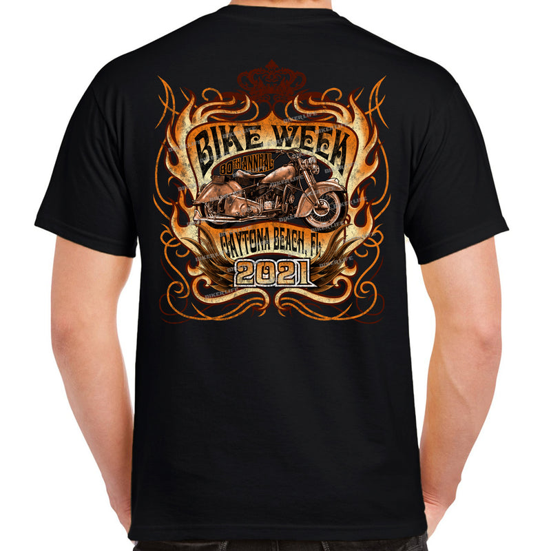 2021 Bike Week Daytona Beach Vintage Classic Ride T-Shirt